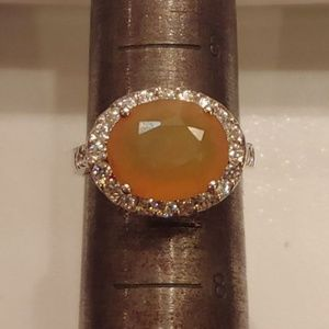 🆕Yellow Opal Topaz Sterling Silver Ring